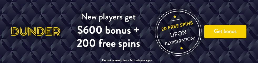 Dunder Casino 20 Free Spins No Deposit NZ