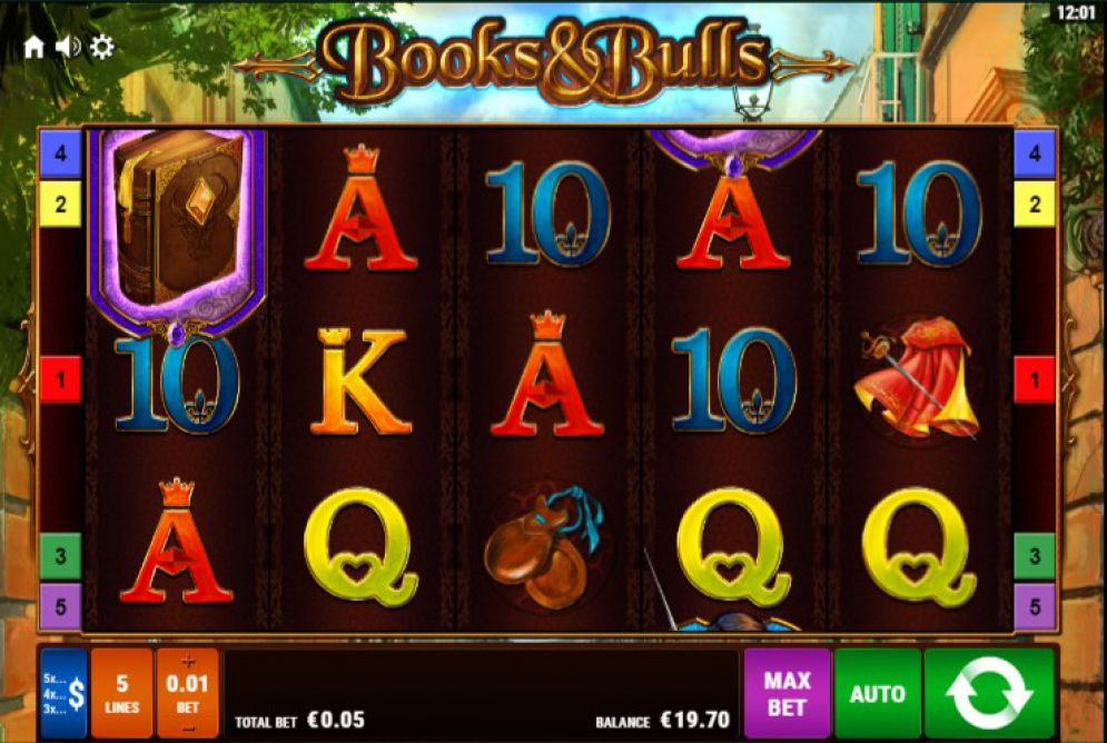 Books & Bulls Slots Pokies Review Bally Screenshot