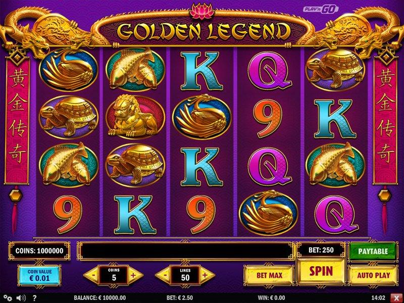 Golden Legend Pokie Play'n GO Screenshot