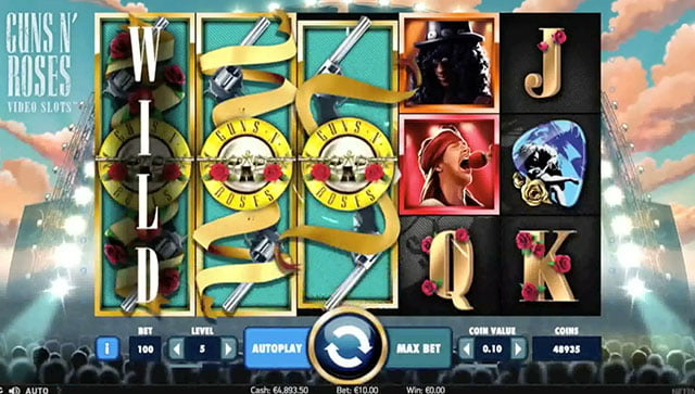 Guns n Roses Pokie bonus free spins review