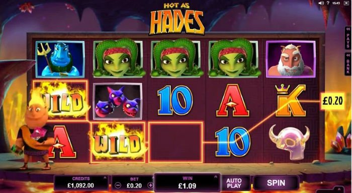 Hot as Hades pokie bonus free spins screenshot