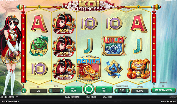 Koi Princess Pokie bonus free spins