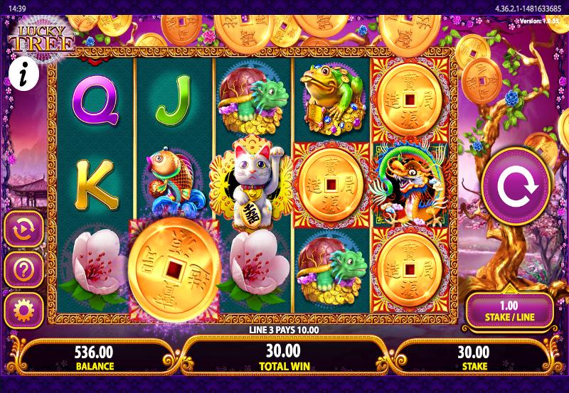 Lucky Tree Pokie Slot Review Bally Screenshot