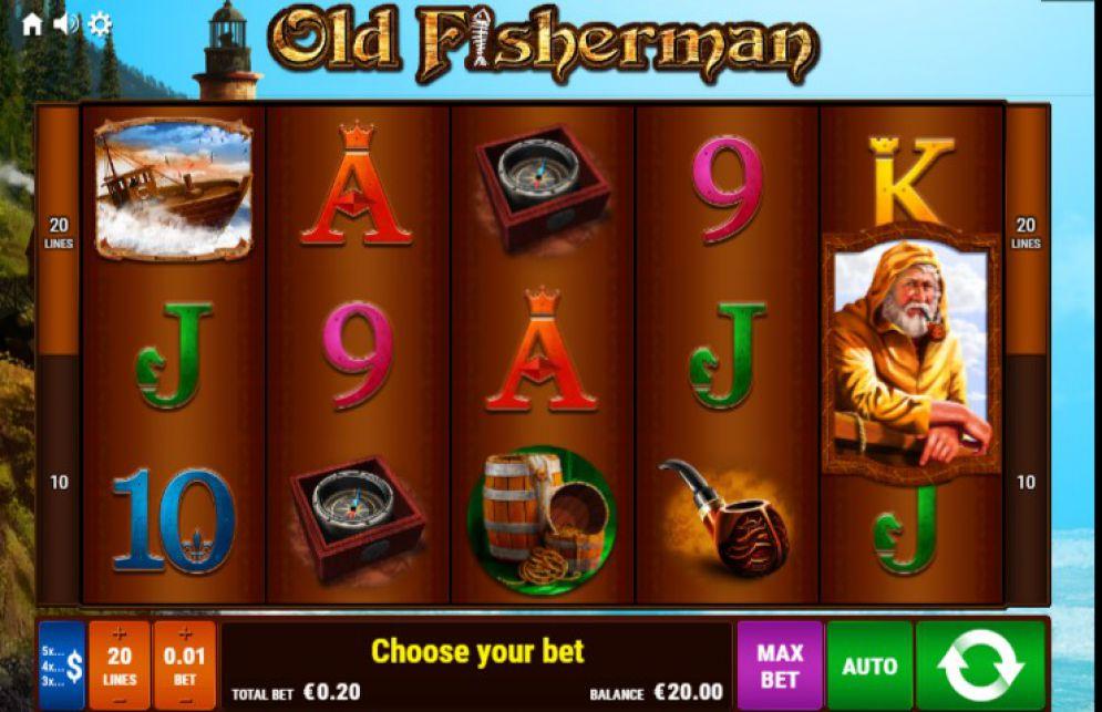 Old Fisherman Pokie Bally Screenshot