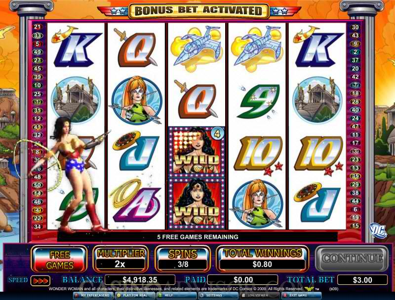 Wonder Woman Pokie Screenshot