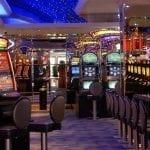 a colorful casino room