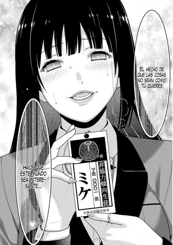 manga drawing of Yumeko Jabami
