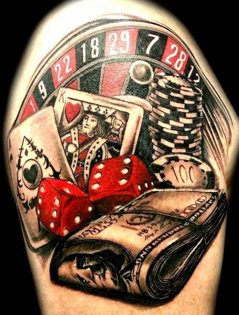 casino tattoo