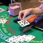 casino green table