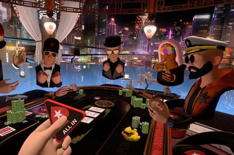vr casino table
