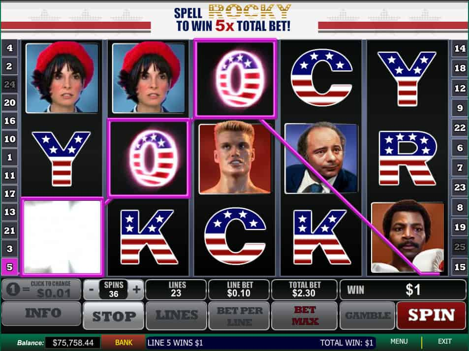 rocky balboa slot machine