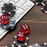 casino dices, chips and keyboard