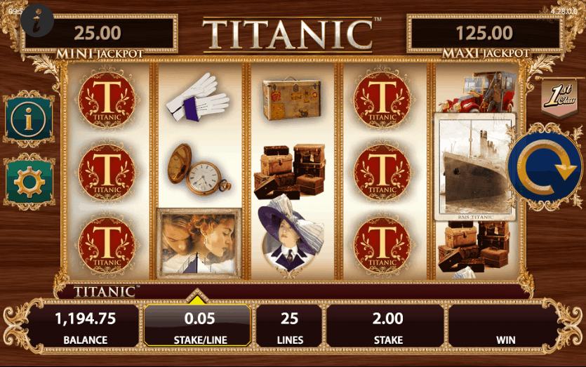 titanic slot game